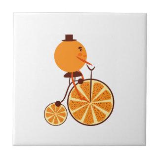 Orange ride ceramic tile