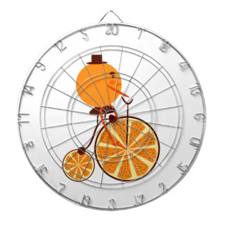 Orange ride dartboard