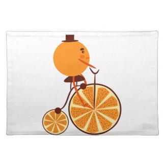Orange ride placemat