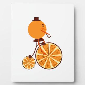 Orange ride plaque