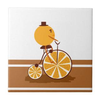Orange ride tile