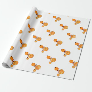 Orange ride wrapping paper