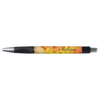 Orange Riot Abstract Art Add Your Name Custom Pen