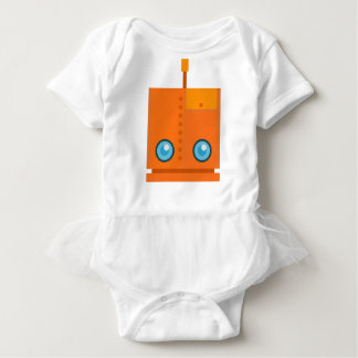 Orange Robot Baby Bodysuit