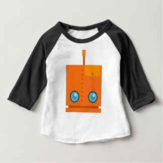 Orange Robot Baby T-Shirt