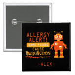 Orange Robot Food Allergy Alert Button