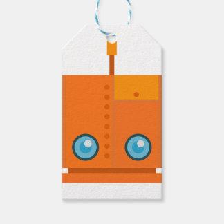 Orange Robot Gift Tags
