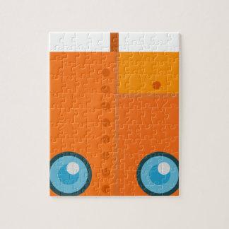 Orange Robot Jigsaw Puzzle