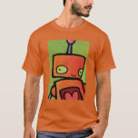 Orange Robot looking at You T-Shirt