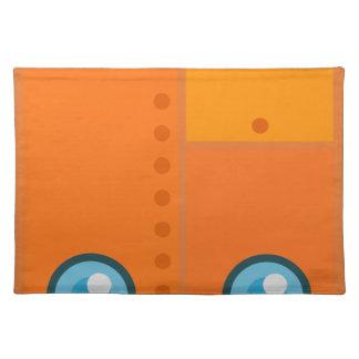 Orange Robot Placemat