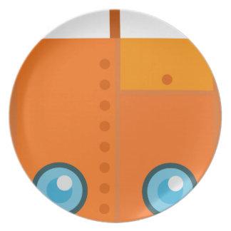 Orange Robot Plate