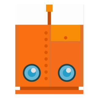 Orange Robot Postcard