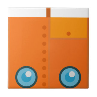 Orange Robot Tile