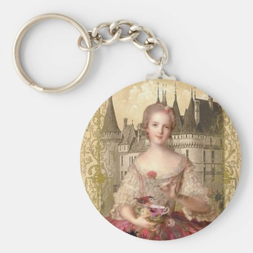 Orange Rococo Keychain