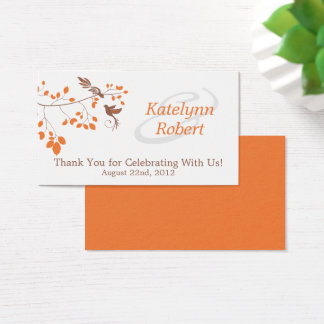 Orange Romance Wedding Favor Tags