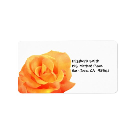 Orange Rose Address Label