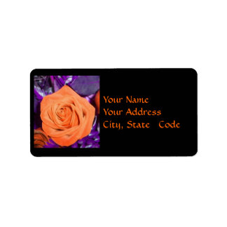 Orange Rose Address labels