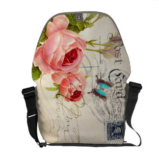 Orange Rose Bag Commuter Bag