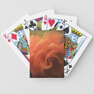 Orange Rose Bicycle Playing Cards