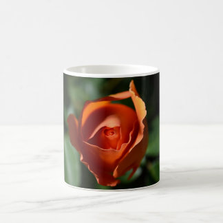 Orange Rose Blossom Coffee Cup Classic White Coffee Mug