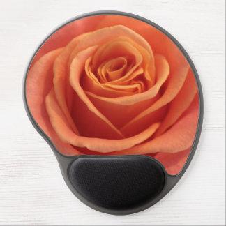 Orange rose blossom gel mouse pad