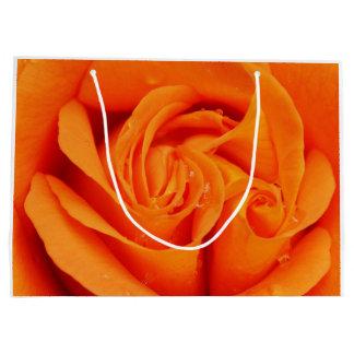Orange Rose Blossom Large Gift Bag