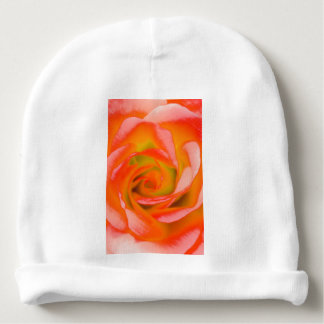 Orange Rose Close-up Baby Beanie