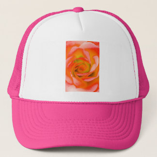 Orange Rose Close-up Trucker Hat