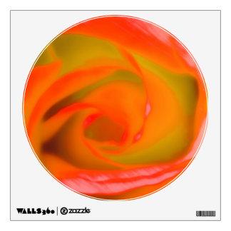 Orange Rose Close-up Wall Sticker