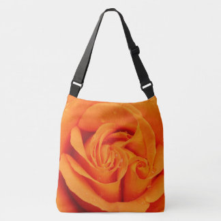Orange rose flower  tote bag