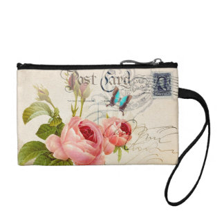 Orange Rose Key Coin Clutch Coin Wallet