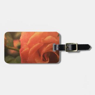 Orange Rose Luggage Tag