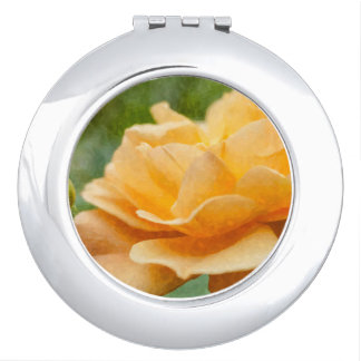 Orange Rose Painterly Makeup Mirror
