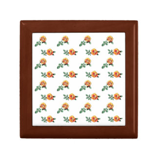 orange rose pattern gift box