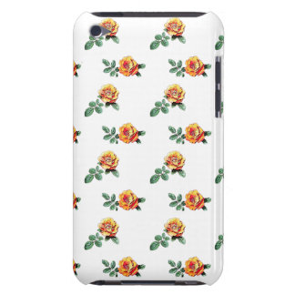 orange rose pattern iPod Case-Mate cases