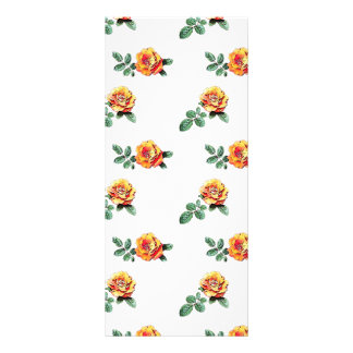 orange rose pattern rack card template