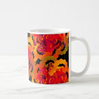 Orange Rose Swirls Mug
