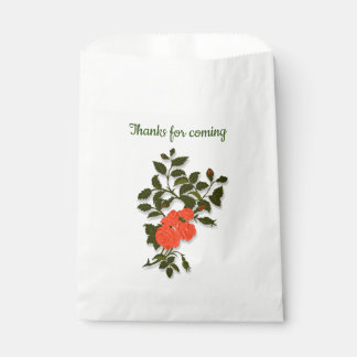 "Orange Rose ""Thanks for coming"" Favour Bag"