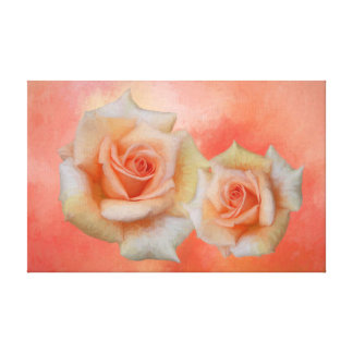 Orange Roses Abstract Wall Art