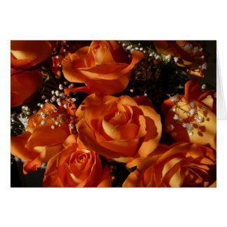Orange Roses Card