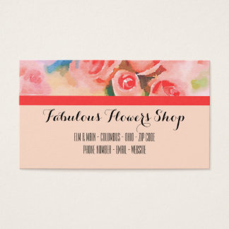 Orange Roses Flower Shop Business Card