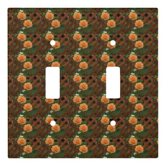 Orange Roses Light Switch Cover