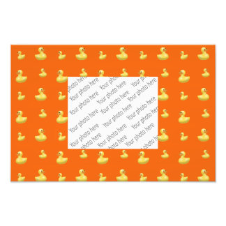 Orange rubber duck pattern photo