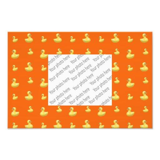 Orange rubber duck pattern art photo