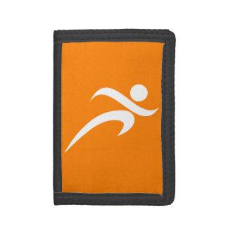 Orange Running; Runner Trifold Wallet