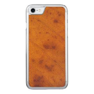 Orange Rust Autumn Leaf | Carved iPhone 7 Case