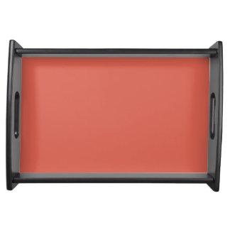 Orange Rust Ripe Apricot 2015 Color Trend Template Serving Tray