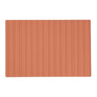 Orange Rust Vertical Stripes Pattern Laminated Placemat