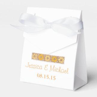 Orange Rustic Wildflower Favour Box Wedding Favor Boxes