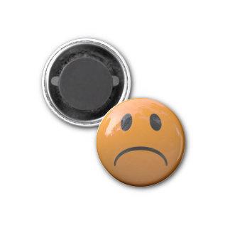 Orange Sad Face Refrigerator or Locker Magnet